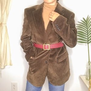 70s Meeting Street Brown Corduroy Oversized Blazer